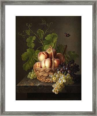 Still Life Framed Print by Gerardus van Spaendonck