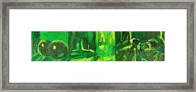 Still Life Green Framed Print by Hatin Josee