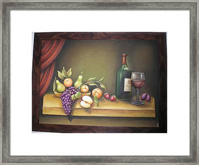 Still Life In 3-d Relief Work Framed Print by Prity Jain