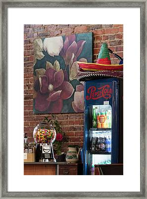 Still Life In Lake City Sc Framed Print by Suzanne Gaff