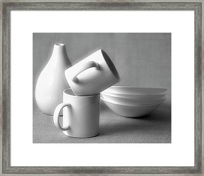 Still Life In Monochrome Framed Print by Vishwanath Bhat