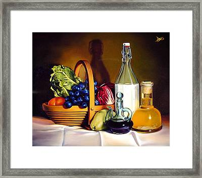Still Life In Oil Framed Print