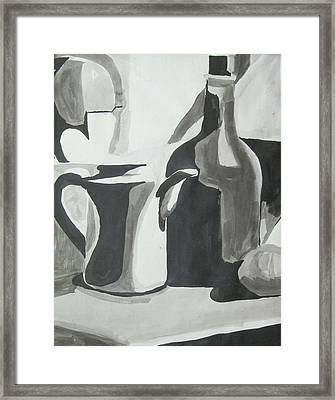 Framed Print featuring the painting Still Life Ink Washes by Carrie Maurer
