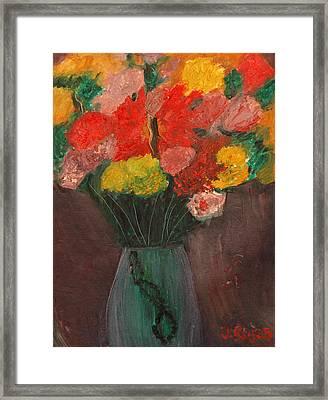 Flowers Still Life Framed Print by Jose Rojas