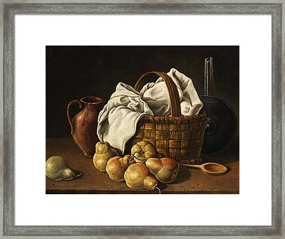 Still Life Framed Print by Luis Melendez