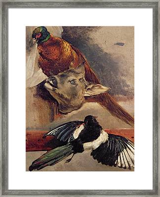 Still Life Of Game Framed Print by Theodore Gericault