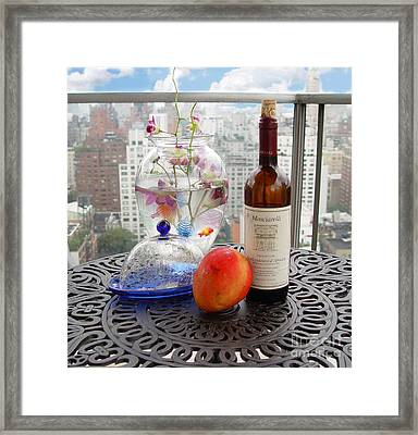 Still Life On Balcony  Framed Print by Madeline Ellis