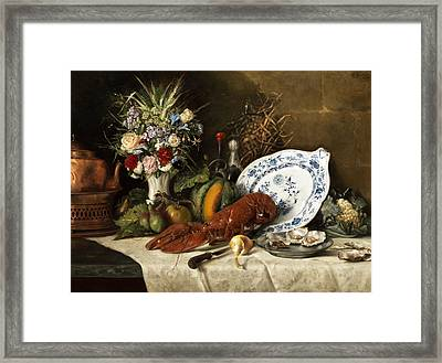 Still Life Framed Print by Otto Goldmann
