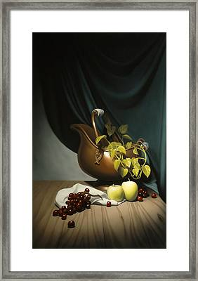Still Life Painting Zanndam Evening Framed Print by Eric Bossik
