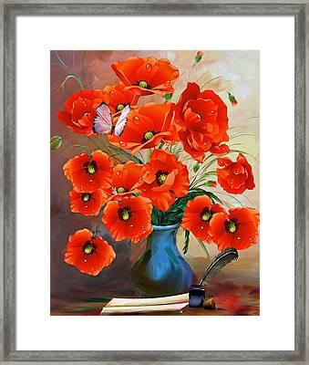 Still Life Poppies Framed Print