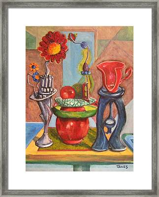 Still Life Reconstructed Framed Print by Dennis Tawes