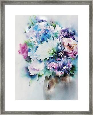 Still Life Rose Bouquet Watercolour Framed Print