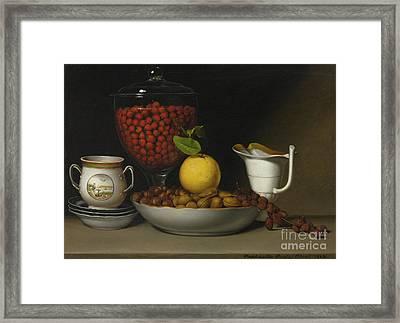 Still Life   Strawberries, Nuts Framed Print