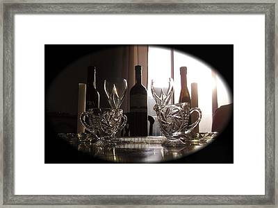 Still Life - The Crystal Elegance Experience Framed Print
