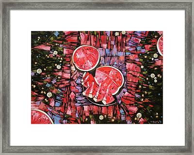 Still Life. The Taste Of Summer. Framed Print by Anastasija Kraineva