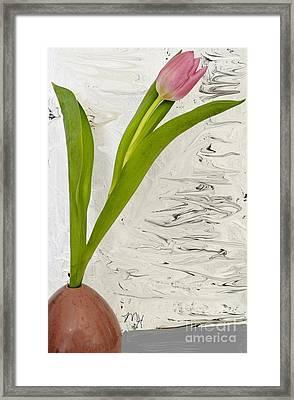 Still Life Tulip Framed Print by Marsha Heiken
