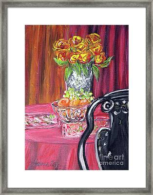 Still Life. Welcome Framed Print