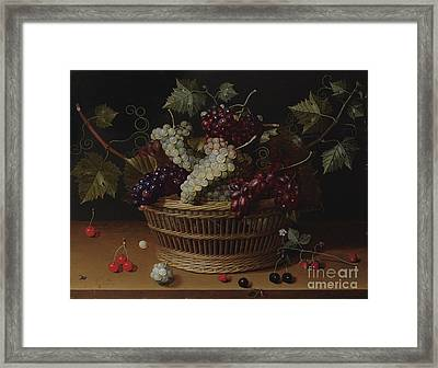 Still Life With A Basket Of Grapes Framed Print by MotionAge Designs