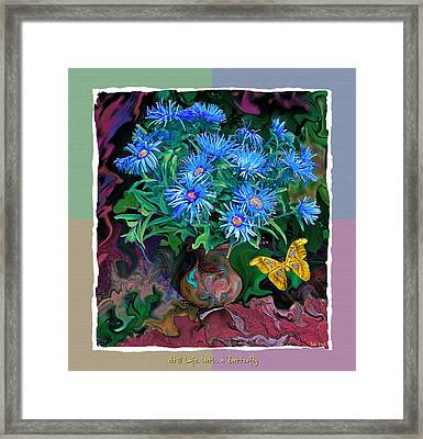 Framed Print featuring the photograph Still Life With A Butterfly by Vladimir Kholostykh