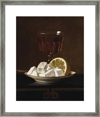Still Life With A Glass Of Tea Framed Print by MotionAge Designs
