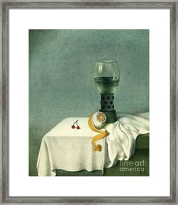 Still Life With A Goblet Framed Print