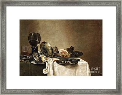 Still Life With A Leg Of Lamb Framed Print by MotionAge Designs