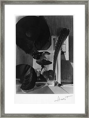 Still Life With A Portrait Of Marquise De Framed Print
