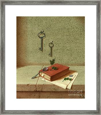 Still Life With A Small Book Framed Print