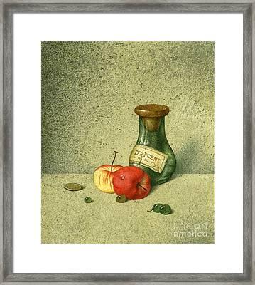 Still Life With A Small Jar Framed Print