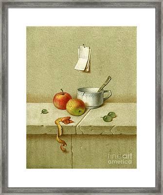Still Life With A Teacup Framed Print