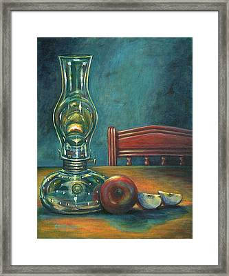 Still Life With Apples Framed Print by Colleen  Maas-Pastore