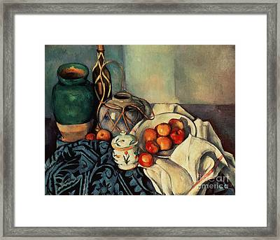 Still Life With Apples Framed Print by Paul Cezanne