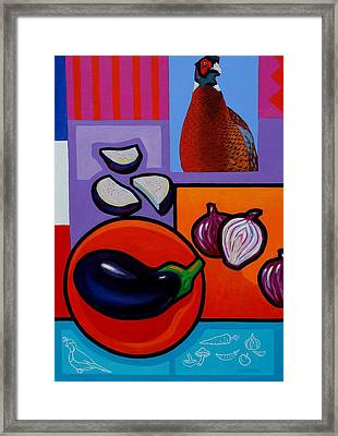 Still Life With Aubergine Framed Print