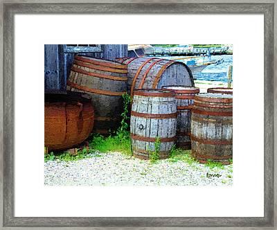 Still Life With Barrels Framed Print by RC DeWinter