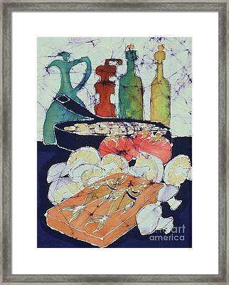 Still Life With Blues Framed Print