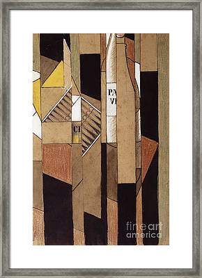 Still Life With Bottle And Cigars Framed Print