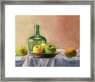 Still Life With Bottle Framed Print by Janet King