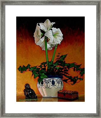 Still Life With Buddha Framed Print by Doug Strickland
