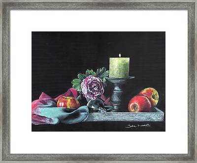 Still Life With Candle Framed Print