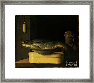 Still Life With Carp  Framed Print by MotionAge Designs