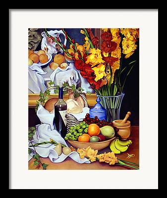 Wooden Bowls Paintings Framed Prints