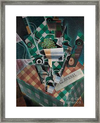 Still Life With Checked Tablecloth, 1915 Framed Print by Juan Gris
