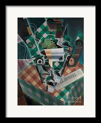 Checked Tablecloths Framed Prints