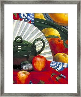 Still Life With Citrus Still Life Framed Print by Nancy  Ethiel