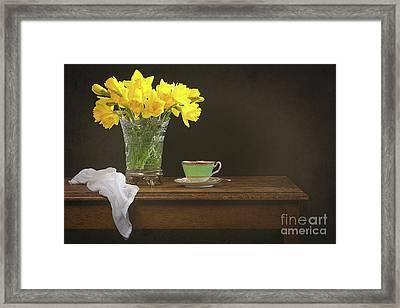 Still Life With Daffodils Framed Print