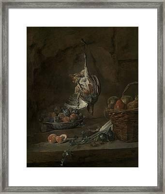 Still Life With Dead Pheasant Framed Print by Jean-Baptiste-Simeon Chardin