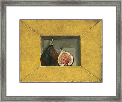 Still Life With Figs Framed Print by Barbara Hranilovich