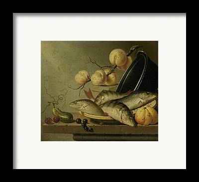 Still Life With Fish Framed Prints