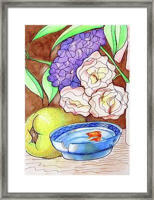 Still Life With Fish Framed Print by Loretta Nash