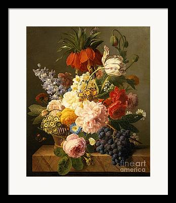Still-life With Grapes Framed Prints